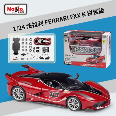 Maisto 1:24 Ferrari FXX K Red Assembly DIY Racing Car Diecast MODEL KITS IN BOX