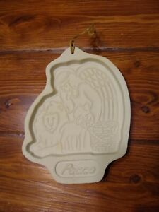 Vintage-Longaberger-Peace-Angel-Christmas-7-1-2-034-Cookie-Candy-Mold-1993-Baking