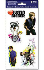 Justin Bieber Peel & Stick Decals Sticker Pack 2 Sheets Gift New