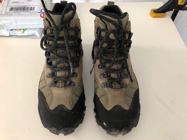 e46286f644a REI Monarch II Green Lichen Nubuck Leather Hiking BOOTS - Women's Size 9