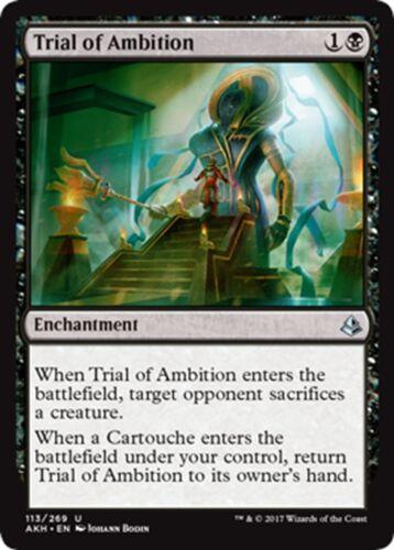 MTG Magic - 4x Trial of Ambition x4 Amonkhet NM//M U