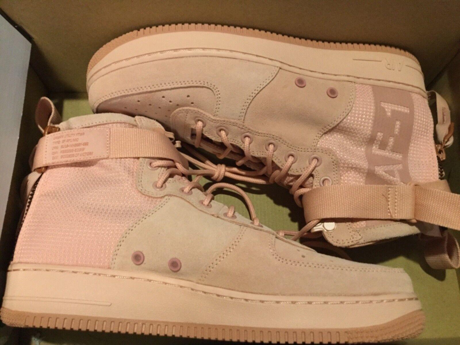 new styles 71048 b2a31 New Nike SF SF SF Air Force 1 AF1 Mid Suede shoes AJ9502-600 Sz