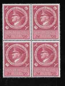 MNH stamp block Sc B271 / Adolf Hitler 1944 Birthday / WWII Germany Third Reich