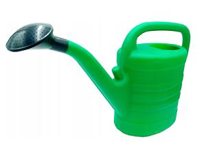 10L Watering Can With Rose Head Sprinkler Green Plastic Gardening Plants Flowers