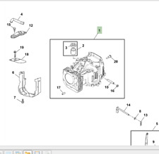 Genuine John Deere X106 Ride On Mower Petrol Engine Oil Sump Seal MIU11958