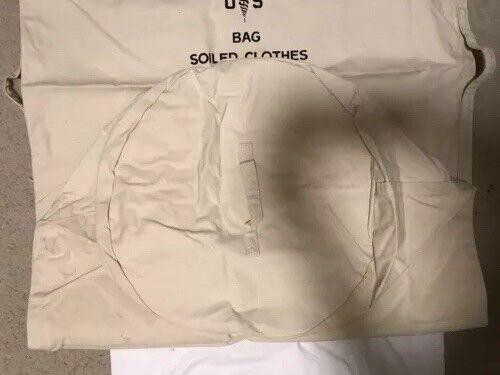 Dufflebag US Military Vintage Canvas Draw String White Laundry Bag,sea Bag