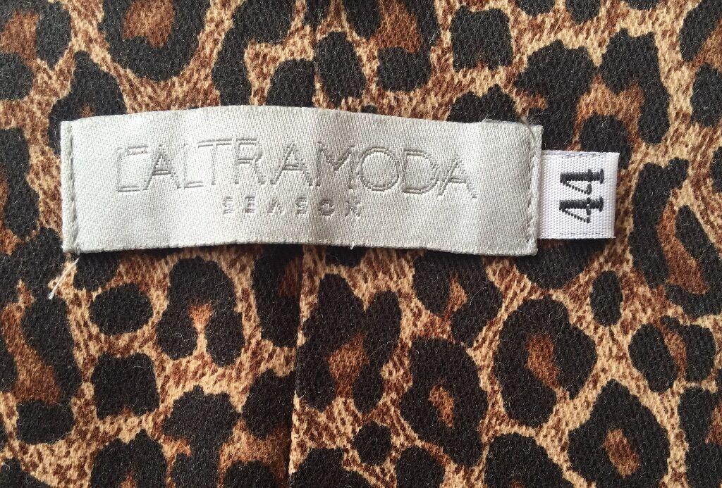 Abito lungo L'ALTRAMODA Corsetto con ferretto Motivo Motivo Motivo Leopardo Taglia 44 It (12UK) 97fe8c