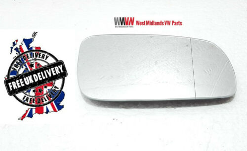 Driver Side Clip On Heated Wing Door Mirror Glass For VW Passat B5 1997-2004