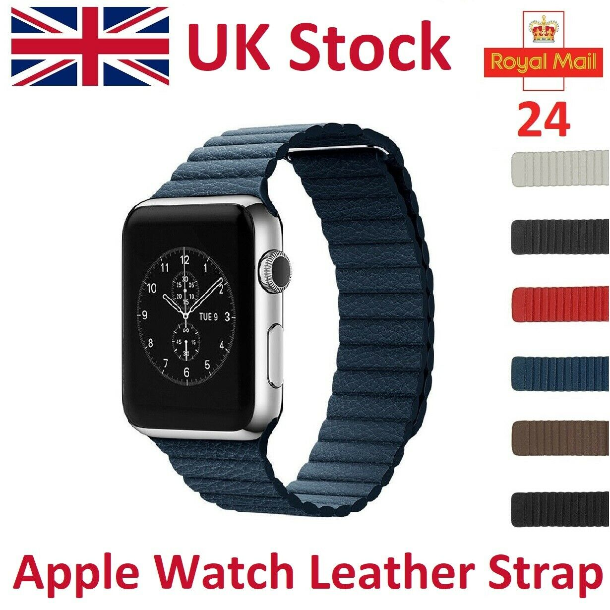 iwatch: For Apple Watch Leather Strap iWatch Genuine Leather Band Magnetic Milanese Loop