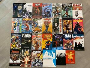 Graphic-Novel-TPB-27-Book-Lot-DC-Marvel-Comics-Image-Batman-Spider-Man-Avengers