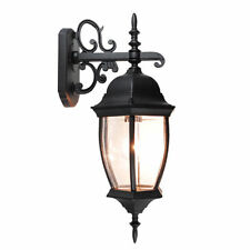 Outdoor Exterior Lantern Wall Light Lighting Fixture Black Yard Garden Sconce US