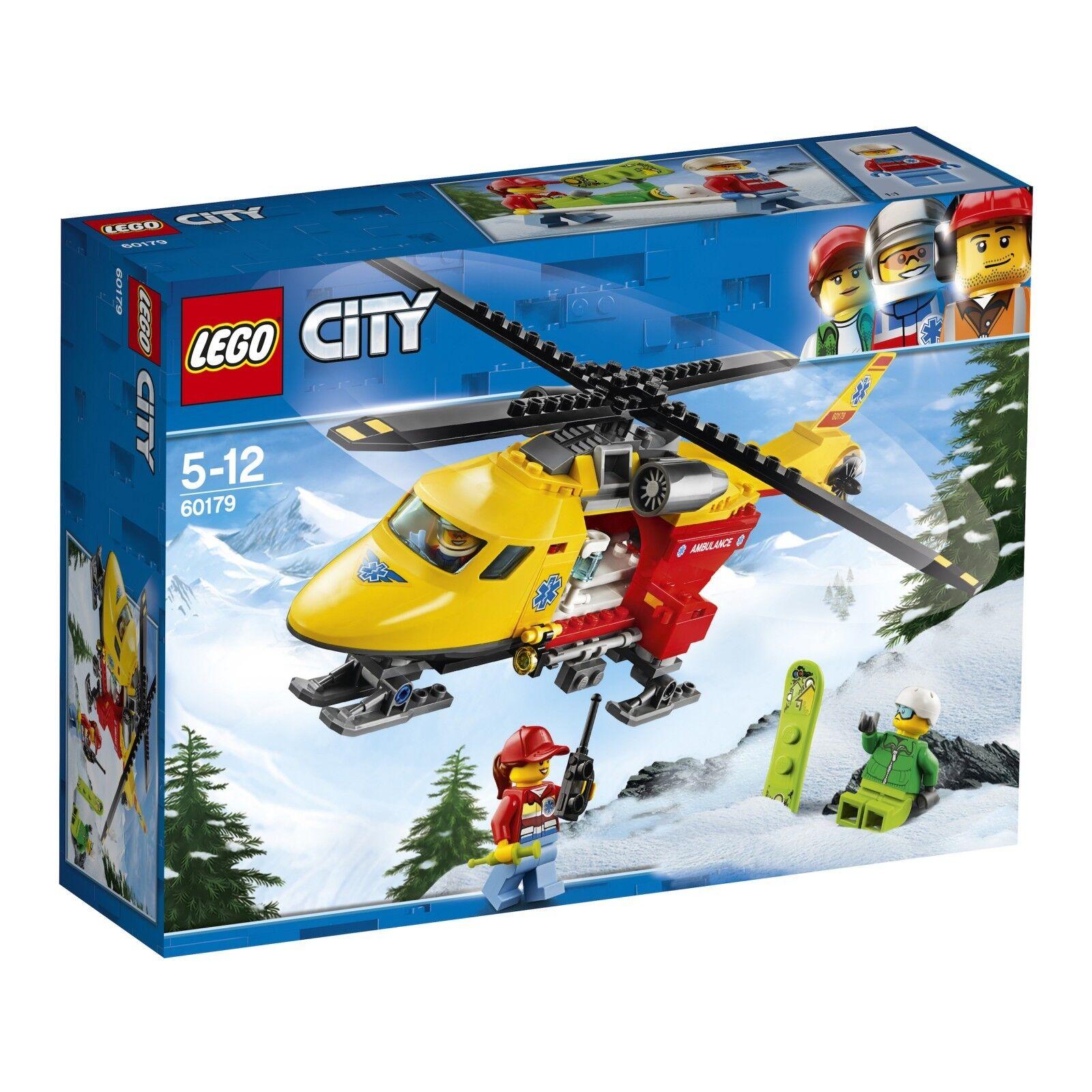 LEGO ® City 60179 hélicoptère de sauvetage NOUVEAU neuf dans sa boîte _ AMBULANCE Helicopter NEW En parfait état, dans sa boîte scellée Boîte d'origine jamais ouverte