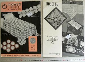 Crochet-MOTIFS-Variety-of-Items-Coates-Books-262-amp-324-Choice-2-Books-CrDA