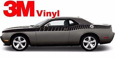 Dodge Challenger 2008-2018 Side Stripes T//A Style Decal hemi r//t srt 3M Vinyl.