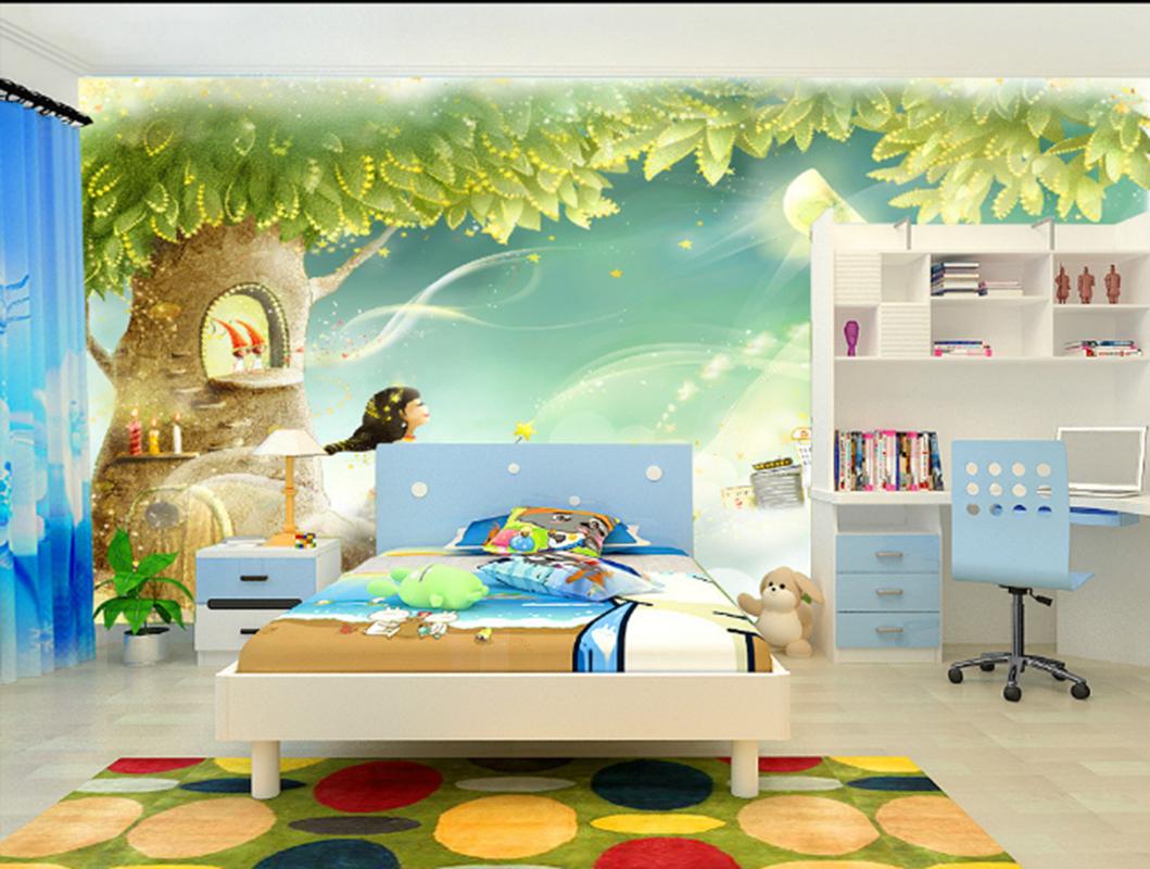 3D Moonlight Tree 73 Wallpaper Mural Paper Wall Print Wallpaper Murals UK Kyra