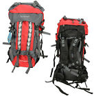 80L Pro Waterproof Backpack Shoulders Bag 600D Camping Hiking Internal Frame New