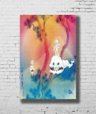Art Kanye West /& Kid Cudi Kids See Ghosts 2018 Album 32x32 24x24in Poster E001