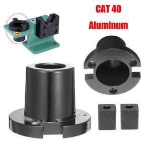 Black-CAT40-Billet-Aluminum-Tool-Holder-Tightening-Vise-Mounting-Fixture-Set