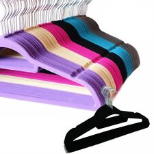 Lot 10/50/100 Non Slip Velvet High Quality Clothes Suit/Shirt/Pants Hangers