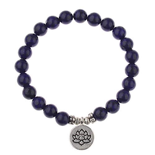 Fashion 3D OM Lotus Matte Amazonite Stone Yoga Energy Reiki Chakra Bracelets New