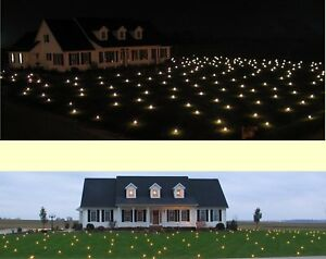 1864-sqft-Lawn-Lights-Illuminated-Outdoor-LED-Christmas-36-08-Warm-White-NIB