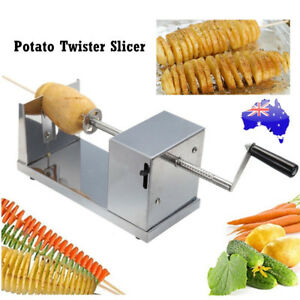 Stainless Steel Potato Twister Tornado Slicer Cutter Vegetable Spiral Machine AU