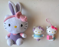 Hello Kitty loose Toy Lot of (3) 1 TY Beanie Baby & 2 Mcdonald's Happy Meal toys