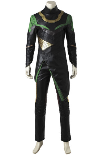 Hot Cakes Film Thor The Dark World Loki Cosplay Costume Full Suit with Shoes