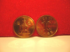 24ct gold finished South Korean ten won coin 2011  BUNC condition.New