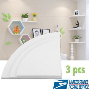 3Pcs-Corner-Shelf-Floating-Radial-Wall-Shelves-Mount-Storage-Rack-Display-Decor