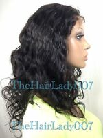 Body Wavy Full Lace Wigs, Close Out Sale 100% Human Hair, In Stock