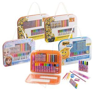 Disney-Kids-37pc-Art-Set-Travel-Case-Drawing-Pencil-Marker-Crayon-Coloring-Ruler