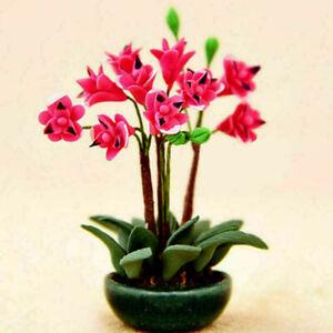 Blumendekoration-Traumhaus-Neu-1-12-Puppenhaus-Miniatur-Staffelei-Topfpflan