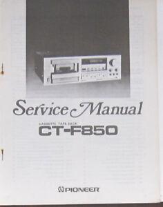 pioneer ct f850 cassette deck service repair workshop manual rh ebay co uk 2013 F850 Dump Lifted F150