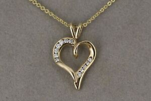 Heart-Necklace-With-Diamonds-and-Chain-in-14kt-Yellow-Gold