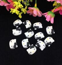 12pcs Cute Resin HELLO KITTY Black Bow flatback Scrapbooking For DIY phone/craft