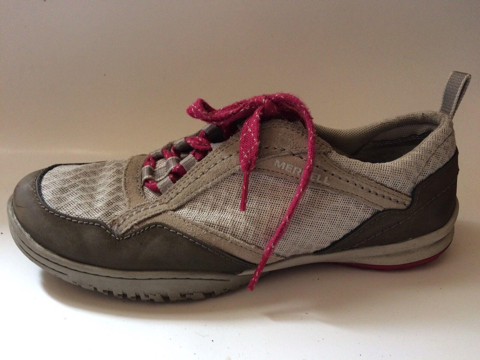 Merrell Albany Rift Lace Corrander Trail Shoe Sneaker Beige Womens 7.5 M Leather Beige Sneaker e4356a