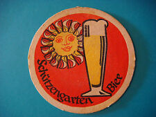 Vintage Beer Coaster Mat ~ Brauerei Schutzengarten Bier ~ St Gallen, SWITZERLAND