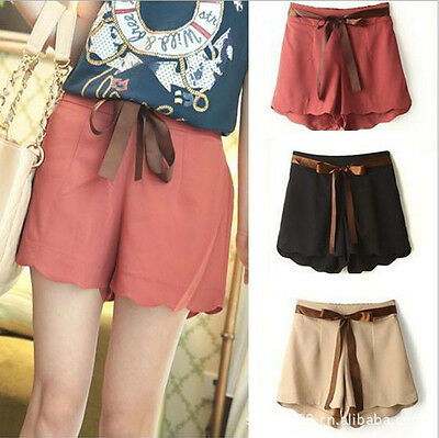 Summer Korean Fashion Women's Pleated Casual Skirt Shorts Skorts Short Hot Pants