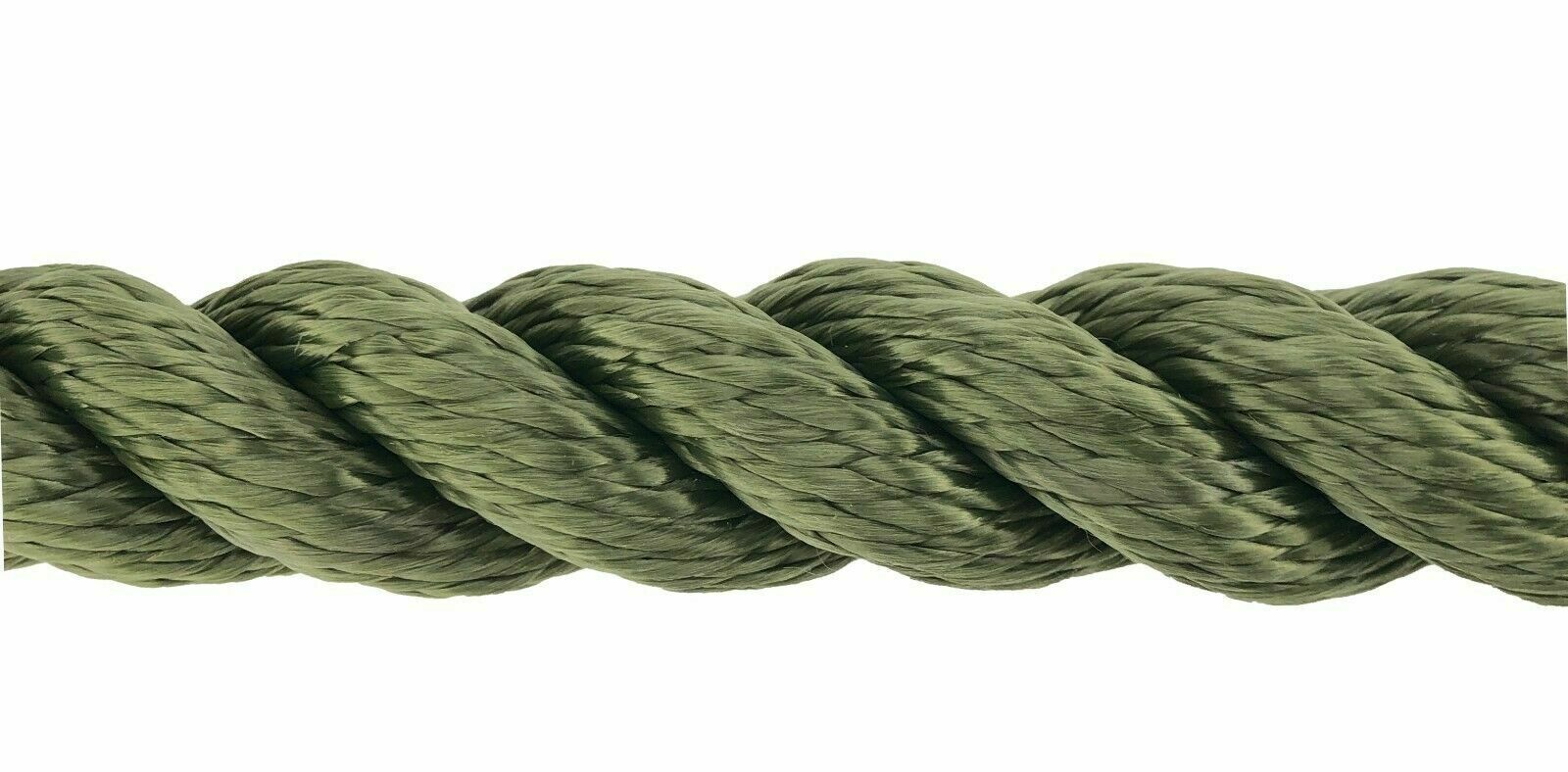 24mm verde Oliva 3 Stre Multifilauominito x 15 Metri Gtuttieggiante Softline Corda
