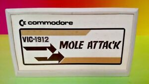 Commodore-Vic-20-computer-cartridge-Mole-Attack-WORKS-Game-Tested-Rare