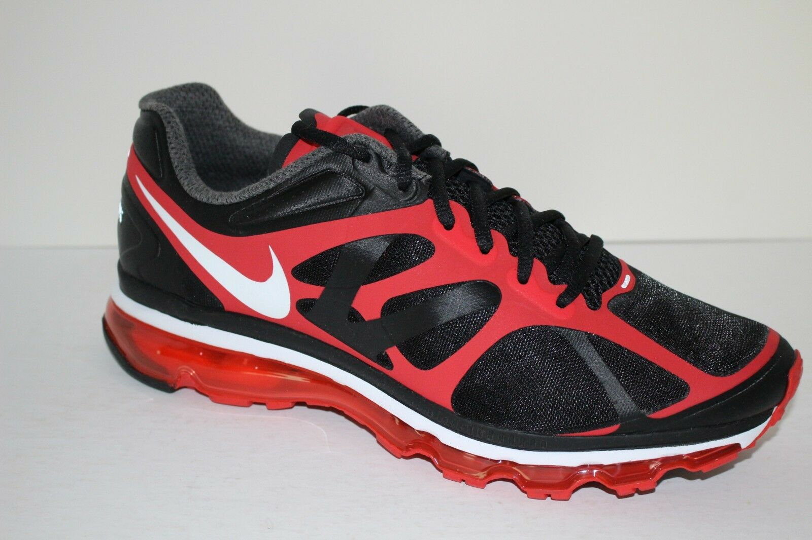 21a3afa3c8 Nike Air Max + 2012 Men's Sz 11 Running Course shoes Black Action Red  Sneakers
