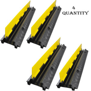 4) Cable Protective Cover Ramp,Cord/Wire Concealment Protection ...