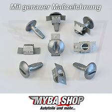 10x Set Protezione Dispositivi di protezione posteriori Clip in Metallo Riparazione per PEUGEOT CITROEN #neu #