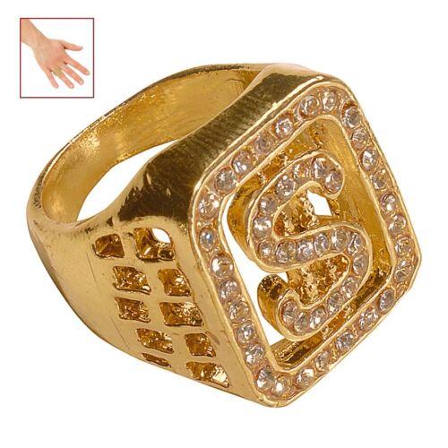 DOLLAR DIAMANT RING Dollarring Goldring Diamantring Rapper Zuhälter Daddy 2112