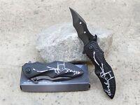 Black White Batman Dark Knight Spring Assisted Pocket Knife Fast Easy Opening