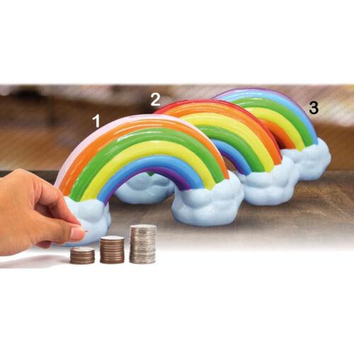 Spardose regenbogen keramisch mit deckel ruft münzen dim 21x11x6cm