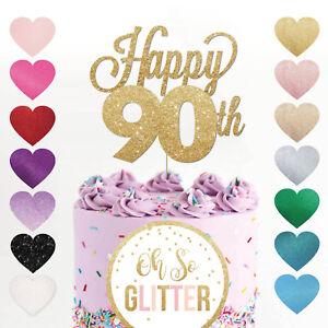 Fantastic Happy 90Th Birthday Cake Topper Ninety Mum Dad Sister Brother Personalised Birthday Cards Veneteletsinfo