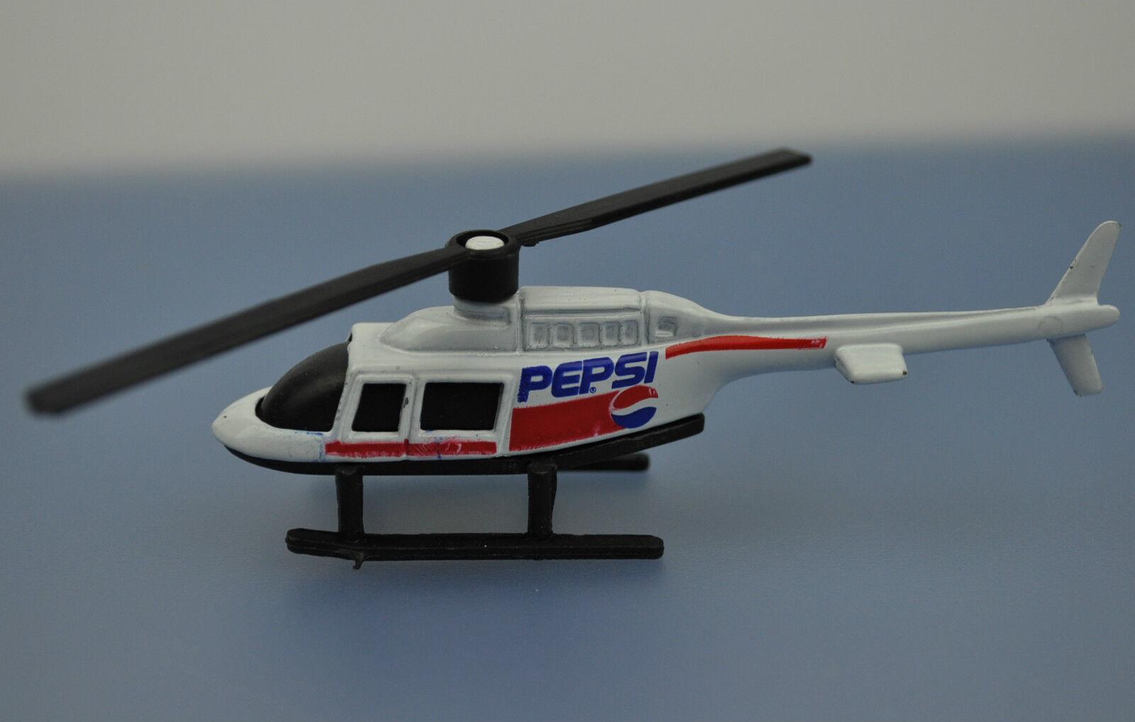 Pepsi Cola Hélicoptère Modèle Etats-Unis 1993 Oui-Ru Die-Cast Hélioptère