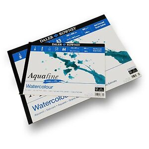Daler-Rowney-Aquafine-Smooth-Pad-300gsm-12-Pages-A3-A4-Made-in-England